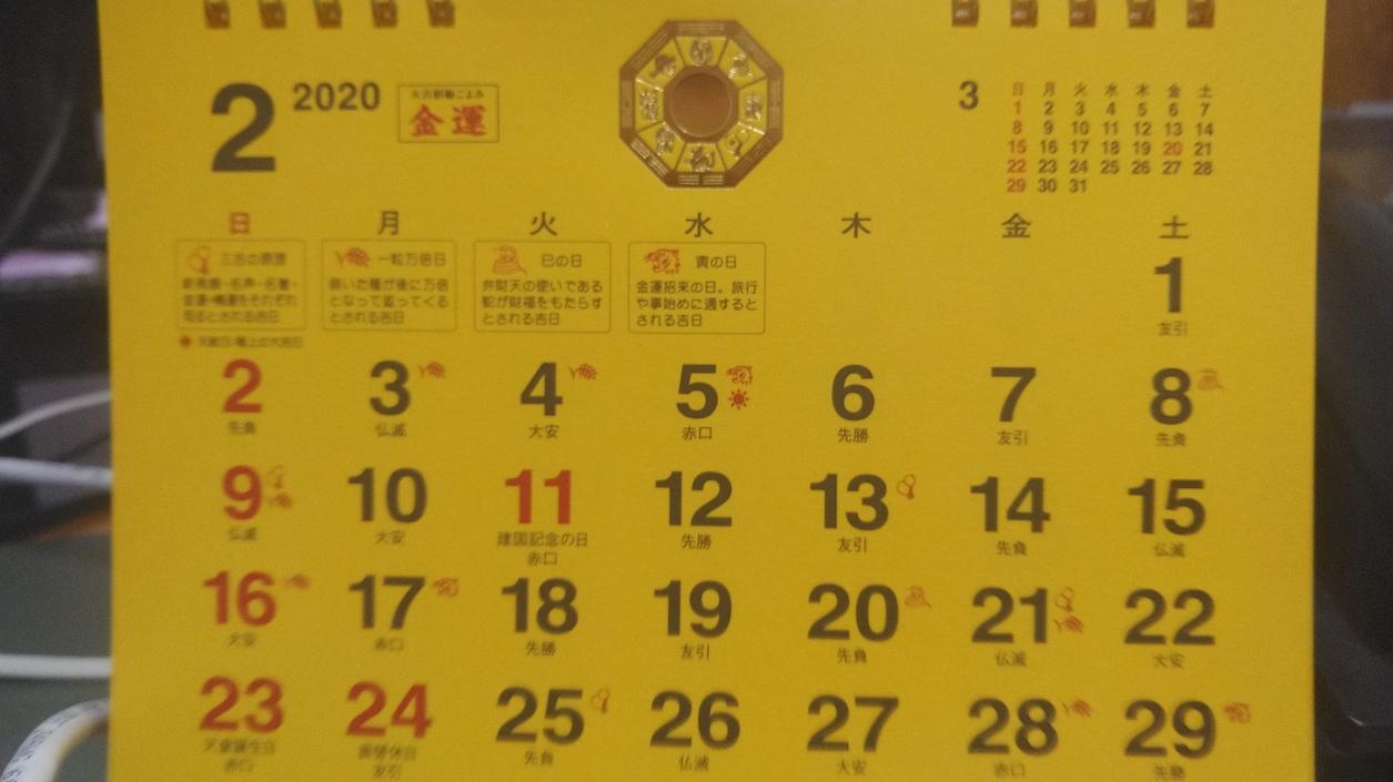 2020年の金運カレンダー